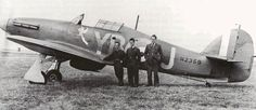 P/O Leonard W Stevens (right) stands with his flight rigger and flight mechanic at RAF Debden in August 1940. Posted from No 229 Squadron RAF, he was serving with No 17 Squadron RAF by early July, claiming an Me 110 destroyed on 11 August and a shared Do 17 on 2 October. Serving with the unit between 6 June and 25 August, Hurricane Mk I YB-J had a winged Popeye displayed on the port side beneath the cockpit.
