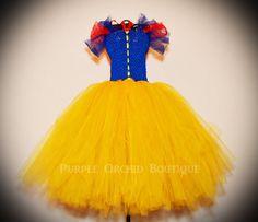 Snow White Inspired Tutu Dress  Halloween