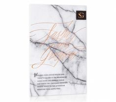 Letterpress & Foil Invitation / Copper / Black / Marble / Modern / Editorial Design / Bliss & Bone