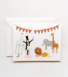 Rifle Paper Co, Circus Birthday Card