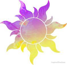 'Tangled Sun inspired silhouette' Sticker by InspiredShadows - Trend Parks Disney 2020 Disney Rapunzel, Rapunzel Sun, Tangled Sun, Rapunzel Tattoo, Disney Tangled Tattoo, Disney Tattoos, Bff Tattoos, Tatoos, Tangled Wallpaper