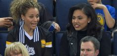 Monday night was a reason for Sonya Curry to celebrate. The NBA supermom had both her sons under one roof, Oakland's Oracle Arena, with Stephen playin...