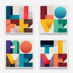 A 4x4 type illustration series about the 4 elements on which human existence is based: Life, Love, Home, Time.