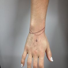 Super fine single line + dotted line bracelets.