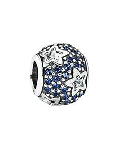 PANDORA Silver Midnight Blue CZ Follow the Stars Charm; Follow the Stars 2014; October 24, 2016; (No threaded core)