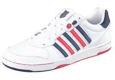 Produkttyp , Sneaker, |Schuhhöhe , Niedrig (low), |Farbe , Weiß-Blau-Rot, |Herstellerfarbbezeichnung , White/Navy/Red, |Obermaterial , Leder, |Verschlussart , Schnürung, |Laufsohle , Gummi, | ...