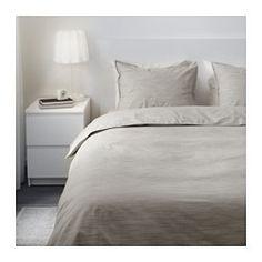 SKOGSALM Funda nórd y 2 fundas almohada, beige - beige - 240x220/50x60 cm - IKEA