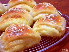 Try These Unique Homemade Rolls, Combination That Is One Of A Kind! Albanian Recipes, Bosnian Recipes, Savoury Baking, Bread Baking, Kiflice Recipe, Croation Recipes, Bread Dough Recipe, Great Recipes, Favorite Recipes