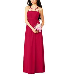 DescriptionAlfred Angelo Style 7270LFull length bridesmaid dressHigh, cut outnecklineNatural waist, shirred a-line skirtChiffonThis style is being discontinued soon. For more information, contact stylist@brideside.com.