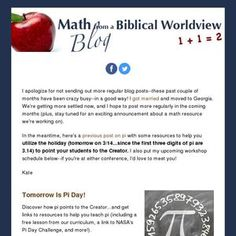 Read my latest newsletter! Holiday Tomorrow, Moving To Georgia, Crazy Busy, Love To Meet, Article Writing, I Got Married, Math Resources, Curriculum, Announcement