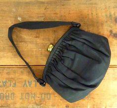vintage 1950s purse / rayon faille pouch purse / MM by LeMollusque, $28.00