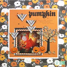 Pumpkin *Pebbles* - Scrapbook.com - Love the little leaves falling from the tree!