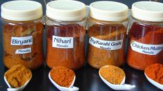 Learn how to make different type of Homemade Masalas at home, These masalas are mostly used in Pakistani, Indian and Bangali Dishes. Make these masalas at ho. Chutney Recipes, Sauce Recipes, Chicken Recipes, Masala Powder Recipe, Masala Recipe, Homemade Spices, Homemade Seasonings, Korma, Biryani