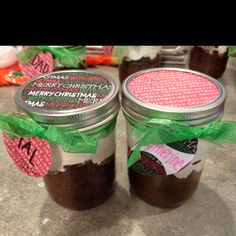 The cakes in a jar I made my extended family for Xmas