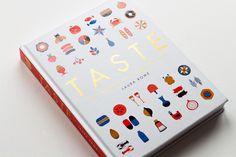 Design and Illustration of Taste. The Infographic Book of Food. Graphic Design Art, Graphic Design Inspiration, Book Design, Cover Design, Print Design, Book Infographic, Best Book Covers, Print Finishes, Print Layout