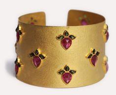 Lotus Cuff Bracelet | Munnu The Gem Palace