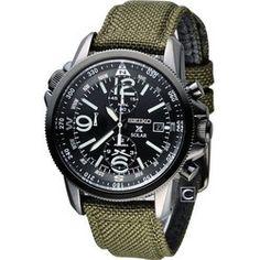 Seiko Prospex SSC295P1 Herrenuhr Kaki Nylon Armband