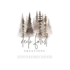 Ideas Tree Logo Branding Graphics For 2019 Best Logo Design, Brand Identity Design, Branding Design, Web Design, House Design, Logo Branding, Corporate Branding, Logo Fotografie, Forest Logo