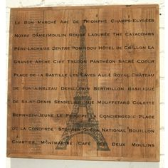 'Paris' on wood Vintage Typography, Typography Prints, Lettering, Cire Trudon, Centre Pompidou, Vintage Art Prints, I Love Paris, Antique Paint, Tour Eiffel