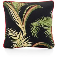 Scenery Label - Print Cushion Palms Black (5,565 PHP) ❤ liked on Polyvore featuring home, home decor, throw pillows, pillows, black accent pillows, black home decor, black toss pillows, leaf throw pillow and black throw pillows