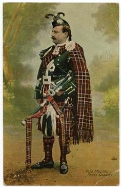 Old Postcard - Pipe Major , Scots Guards