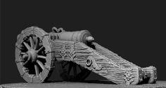 ArtStation - 17th Century German 24-Pdr Cannon Sculpt - wip, Yan S.Dong
