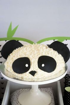Check out this awesome panda birthday cake! See more party ideas and share yours at CatchMyParty.com