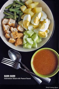 Gado-gado is the one salad from Indonesia that needs no introduction. The creamy, sweet, sour, and spicy peanut sauce is really what makes this a great salad. If there is such a thing as a national salad, this gado-gado will be it. ♥ There is no strict rule to what …