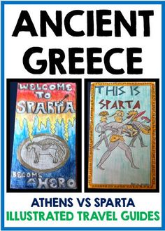 Athens vs. Sparta: Illustrated Travel Guides