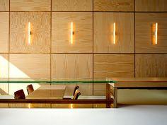 Lokaal espresso bar by Weaponofchoice, Wood veneer panel pattern