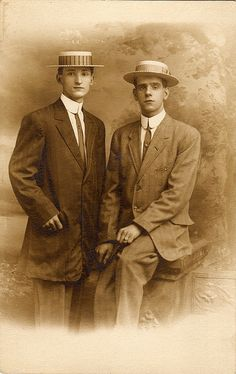 Two young men, 1912 by boobob92, via Flickr