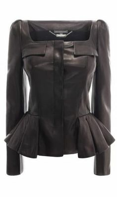 Alexander McQueen Leather Jacket. oh my, where are the shoes to match.