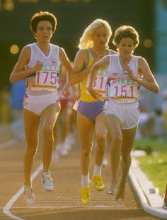 1984 - Zola BuddTrack and Field, Los Angeles Summer Olympics Games  Zola Budd (Great Britain) during an Olympic Race, 1984 Los Angeles Olympics.  She had an infamous collision with US runner Mary Decker at this Olympics.