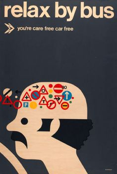 poster by Tom Eckersley (1970's)