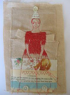 """A Memoir of the Poetess""  by Cathy Cullis #stitchery"