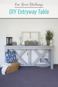 DIY entryway table with plans from Rogue Engineer