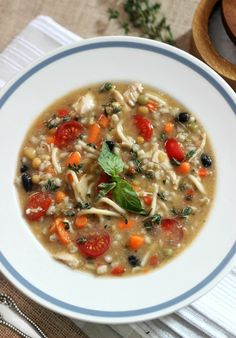Chicken Vegetable Soup with Sun-Dried Tomato Pesto   simply fresh dinners