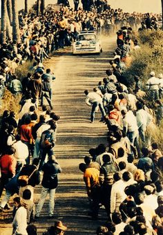 While reading an article on the Group B monsters I saw this amazing photo. I think it pretty well illustrates some of the problems faced by WRC in the mid 80s. This was the Rally that changed the WRC forever and spelt the end of the Group B monsters. The 86 Portuguese Rally where 3 spectators were killed.