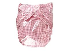 Haian Reusable Adult Incontinence AIO PVC Diapers (M-L, Pink Gingham Print Cotton) Review