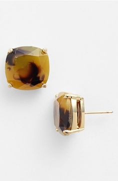 kate spade new york stud earrings in tortise $38