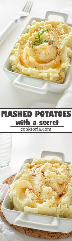 Light and creamy mashed potatoes with a little secret, that will make your guests and family beg for more.  COOKTORIA.COM