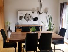 TABLE ORLÉANS - MERISIER - AMBRÉE - FINI TEXTURÉ - 72'' X 40'' X 2'' ÉPAIS - BUFFET AUGUSTA - TABLEAU UGO #lusine #table #orleans #merisier #ambree #buffet #augusta #tableau #ugo #pattex Buffet, Orleans, Dining Table, Furniture, Home Decor, Board, Decoration Home, Room Decor, Dinner Table