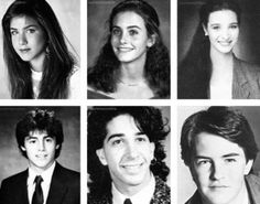young #Friends: Jennifer Aniston, Courteney Cox, Lisa Kudrow, Matt LeBlanc, David Schwimmer, Matthew Perry