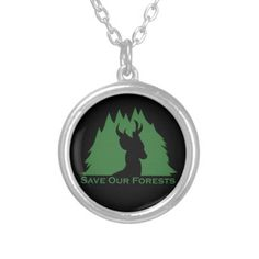 Save Our Forests #deer #wildlife #trees #saveourforest #conservation #necklace