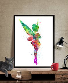 Tinkerbell Art Print Tinkerbell Watercolor Poster by FineArtCenter