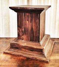 wood column base