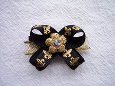 Fleur De Lis Saints bows!! soo getting this for Nola!