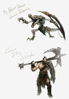 Speed Painting: Jurassic Renketon & Gladiator Darius By Riot Penguin