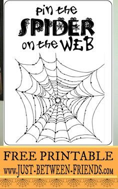 Just Between Friends: Pin the Spider on the Web #freeprintable #halloween