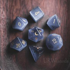 by plrinSource by plrin Pink Opalite Gemstone DnD Dice Set Engrave Font A Gold Ink Dungeons And Dragons Dice, Dnd Dragons, Gifts For My Girlfriend, Dragon Dies, Dice Bag, Eye Stone, Grey Cats, Blue Cats, Hand Engraving